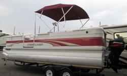 Yes Folks! It?s another Quality built Crestliner pontoon at Cowboys RV Marine, where you?ll always be guaranteed a full marine service by our qualified technicians in our A+ BBB rated service department! The 2285 Sport LX Crestliner boat is really clean