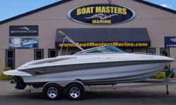 SOLD 2005 Crownline 226 ONLY 128 HRS!! -BIMINI TOP -BOW AND COCKPIT COVER -EXTENDED SWIM PLATFORM -REAR SWIM LADDER -SWIM PLATFORM RADIO CONTROLS -DUAL STAINLESS STEEL PROPS -POP UP CLEATS -FRONT BOARDING LADDER -FRONT ANCHOR LOCKER -SWIVEL TONGUE ON