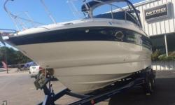 This 2005 Crownline 20 CR has a Mercruiser6.2 MPI (320hp) w/ a Dual prop drive system and atandem axle trailer w/ brakes. This a great looking cruiser and has plenty of room for the whole family! This cruiser comes FULLY LOADED and extremely