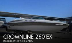 Actual Location: Boulder City, NV - Stock #108730 - If you are in the market for a deck, look no further than this 2005 Crownline 260 EX, just reduced to $29,999 (offers encouraged).This boat is located in Boulder City, Nevada and is in great condition.