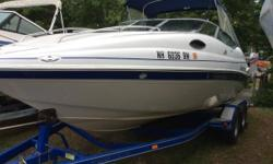 Come and see this truly amazing used 2005Ebbtide here at our showroom on Rte. 11 in Gilford, NH. Also includes a matching trailer from Ebbtide, bimini top, fish finder, 5L Mercruiser Engine, extended swim platform, depth sounderand trim