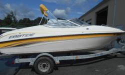 THIS FINE UNIT HAS THE 4.3 LITRE V6 BY MERCRUISER, GOOD COVER SET, GOOD TRAILER, WE WATER TEST ALL OUR UNITS BEFORE THEY LEAVE ALSO, INTERIOR AND HULL FINE CONDITION, EBBTIDE IS A HIGH QUALITY COMPANY ON THE MARKET TOO, $350 OF FREE WARRANTY COVERAGE FOR