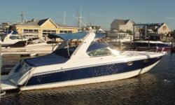 "This updated Formula 330 SS features sporty performance, and is sleek and roomy on a deep-V hull with generous beam, newer manifolds and risers.  Heat, air conditioning, anchor windlass, updated electronics, canvas and more combine to make ""Seaweed"""
