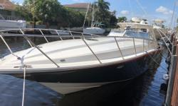 2005 Fountain 48 Express Cruiser - 2 Stateroom, 2 Head Version - This is one of the best deals for a low hour well cared for 48 Fountain Express Cruiser.This 48 is powered by three turbocharged Yanmar 440 diesels that deliver 440hp each through triple