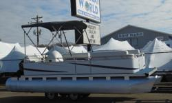 2005 Gillgetter 19' Pontoon & 25HP Mercury Big Foot 4-Stroke Outboard. Motor Rung Great! This Pontoon Boat Features, Bench Bow Seats With Storage, Wrap Around Bench Seating With Storage, Seat With Cooler, Bimini Top, Nav Lights, New Starting Battery This