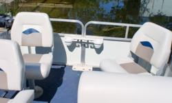 This boat has a 25hp Mercury motor. You can get to your favorite lake because it has a single axle Genisis galvanized trailer. There is a mooring cover and a bimini top. Beam: 7 ft. 0 in.