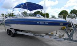 2005 Glastron GX 255 with a Volvo 5.7L with only 230 hours. Space, elegance and Glastons famous performance come together in the GX 255. This model boasts impeccable design, attractive color schemes and rich upholstery, a clever rear boarding gate