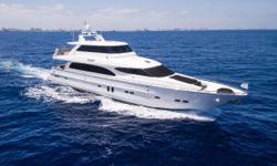 'Jeannie' is a fantastic example of the 82 Horizon Skylounge series. She has been cared for by a full time live aboard captain who has maintained her at a very high standard. A three stateroom, three head layout below with a full beam master with