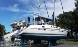 A very well cared for Hunter 456 center cockpit that is ready to cruise. Bow thruster Davits Inverter Air conditioning Generator Autopilot In-mast furling Owner has moved ashore permanently, please bring all offers. Nominal