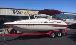The top-of-the-line Hurricane SunDeck Series sets the bar for all deck boats in design, performance, amenities and refined luxury. You can count on head-turning looks and exhilarating handling. It's day boating at its finest!When outboard power is the