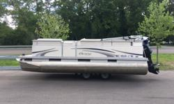 The Manitou Aurora was designed to accommodate your needs and meet your budget. This boat is perfect for inland lake boating. Trades Considered. General Options AUTO FIRE EXT BIMINI TOP FW0486A MOORING COVER - BUNGEE TYPE STANDARD USED BOAT POLICY