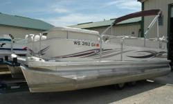 This Boat Has Been SOLD! Here is a very nice pontoon package in very good condition. This boat is your opportunity to be on the water with your family and friends at a fraction of the cost of buying new. Pushing it through the water is a 2003 Johnson 50