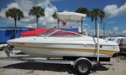 2005 Mariah SX180 Bow Rider I/O boat is 18 feet in length. Features include Bimini Top and seating in both the bow and stern areas of the boat with plenty of room for the entire family. Powered by A MerCruiser Alpha One 3.0 Liter Inboard / Outboard motor