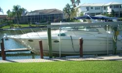 2005 Monterey 322 Cruiser Powered by twin fresh water cooled Volvo Penta 5.7L engines with Duo-props. 551 hours. ? 5 KW Kohler Generator with 190 hours ? Original owner ? Cold A/C ? Heat ? Radar Arch with double bimini tops ? Canvass includes full camper