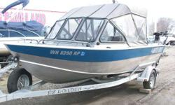 115 Yamaha, 8.0 Yamaha kicker, two Scotty electric downriggers, Garmin GPS, stand-up fishing top. - Well Equipped Nominal Length: 18' Engine(s): Fuel Type: Other Engine Type: Outboard