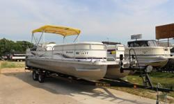 This is a clean 2005 Playcraft powertoon with nice L layout. The 200 Honda only has 176 hours on it and the boat is in good condition. Boat includes: Bimini, cover, 200 outboard, hour meter, depth meter, dual battery switch, and