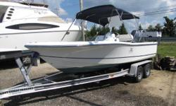 **** JUST REDUCED **** Polar 20 is a great boat for fishing and snorkeling, and will take you all the way offshore if that's your goal. Perfect size for a family of 6 or for 4 anglers with gear, this boat comes with full bow seating and a