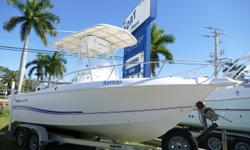 Just In On Trade 2005 Pro Line 21? Center Console Powered By A Honda 150Hp Outboard Motor That Has 650 Hours. Equipped With Hard T-Top, Garmin 541S, VHF Radio, Swim Ladder, Trim Tabs, Console Cover And Tandem Axel Aluminum Trailer. Trailer Included!