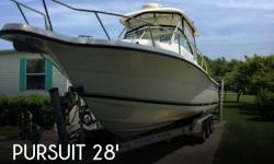 Actual Location: Ocean View, DE - Stock #096367 - If you are in the market for a walkaround, look no further than this 2005 Pursuit 2870 Walkaround, just reduced to $72,250 (offers encouraged).This boat is located in Ocean View, Delaware and is in great