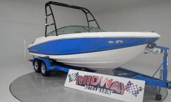 Go to our web site for updated info: midwayautoandmarine.com. Over 75 used family boats in stock. All with warranty. Delivered all over the U.S. and Canada. We love Regal boats, very high quality and a great layout with the walk