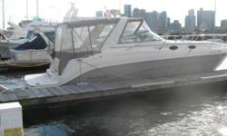 New to the market and priced for a quick sale is this 2005 Rinker 342 Fiesta Vee. This boat is powered by twin 2005 Mercruiser 350 MPI engines with less than 550 hours of use and Bravo III Outdrives with stainless steel duo-props. The vessel is equipped
