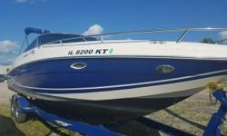 This 2005 282 Captiva is a must see! Lightly enjoyed and professionally maintained. Many upgrades listed! Trades considered. CANVAS BIMINI TOP COCKPIT COVER (BLUE) FULL ENCLOSURE NEW COCKPIT COVER NEW VINYL CUSHIONS IN CABIN SIDE/AFT CURTAINS DECK BOTTOM