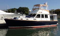 Key Features 500 HP Yanmar Diesels with only 420 hrs Great Highend Garmin Electronics recently added Flir Night vision camera, as well as an engineroom and stern camera New blue Awlgrip paint in 2014 Lift kept Bow and Stern Thrusters Nominal Length: 42'