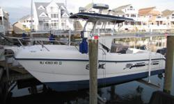 Sea Cat with Twin Suzuki 4 Stroke Engines and under 500 hours!!! WINNER of the Boating Magazine's 22' Comparison Cat Rally Garmin 5212, Radar, Windlass, Riggers, Cover, and Trailer! Nominal Length: 22' Length Overall: 22' Max Draft: 1' Engine(s): Fuel