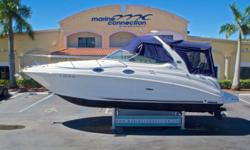 2005 Sea Ray 280 Sundancer, Marine Connection: South Florida's #1 Boat Dealer! Cobia, Hurricane, Sailfish Pathfinder, Sportsman, Bulls Bay, Rinker & Sweetwater new boats plus the largest selection of pre-owned boats. View full details and 75 photos of