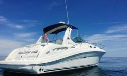 This boat is equipped with Mercruiser 8.1L Horizon V-drive closed cooled gas engines, 370 hp each less than 500 hours, 100% freshwater use, central vacuum, windlass, with new rode (2016), new flatscreen tvand new glo-max antenna (2017), new stereo