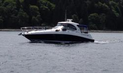 "Broker Note:  M/V ""Ruff Seas"" is quite possibly the nicest 2005 390 Sundancer (renamed 40DA in 2006-2009 model years) in the Pacific Northwest.   Her owner has equipped her with the best in cruising accessories while proactively applying"