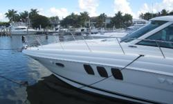 Very Nice Sundancer Twin Cummins QSC-540 with 517 hp, Powers This 2 Stateroom, 2 Head, Spacious Galley With A Well Appointed Salon. This Boat Is Loaded With Extras & Options Such As, Dark Cherry Cabinetry, Wood Galley Flooring, LCD/TV/DVD In