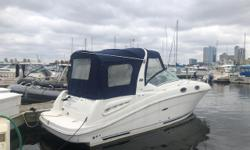 Boasting the preferred power plan with an upgraded 6.2MPI and a trailer (not pictured), this very low hour (sub-250 all fresh water) 2005 Sea Ray 260 Sundancer is a perfect entry for those looking for that pocket, shoreline cruiser at a fraction of the
