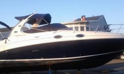 HUDSON'S PRE-OWNED Nice clean Sea Ray 280 Sundancer powered with twin Mercruiser 4.3L MPI I/O with Bravo III outdrives. This model is equipped with a Windlass system, Remote Spotlight, Garmin 182C GPS, New Garmin VHF, Clarion CD Stereo w/ 6 CD Changer and