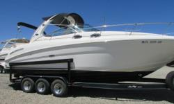 2005 Sea Ray 300 Sundancer with twin Mercruiser 6.2 MPI 320 HP and Bravo Three dual prop Outdrives. Clean fresh water only boat, Options include Kohler 4.0 KW Generator, Cruise Air heat & Air Conditioning, Full galley with electric stove, microwave, dual