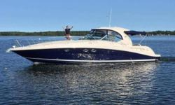 2005 42' Sea Ray Sundancer -- Blue Hull Vessel in Excellent Condition -- Powered with Upgraded 480CE Cummins DieselsLoaded with Options: Cockpit A/C + Heat, Bow Thruster, Newer Camper Canvas + Eisenglass, New Cockpit Carpeting, Upgraded Raymarine Plotter