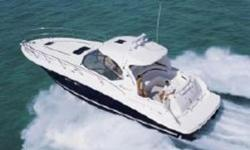 NEW ARRIVAL, THE SEA RAY 42' SUNDANCER! THIS SEDUCTIVE HARDTOP SPORT-YACHT COMBINES SIGNATURE SEA RAY STYLING WITH YACHT-CLASS ACCOMMODATIONS, AND STATE OF THE ART CONSTRUCTION. OPULENT MIDCABIN INTERIOR WITH CHERRYWOOD CABINETRY BOASTS, TWO PRIVATE