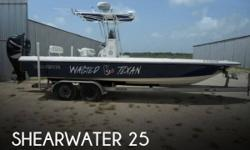 Actual Location: SARGENT, TX - Stock #096276 - This vessel was SOLD on July 22.If you are in the market for a bay, look no further than this 2005 Shearwater 25 LTZ, just reduced to $31,500.This boat is located in SARGENT, Texas and is in great condition.