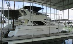 Fresh Water Only. Own Owner! Twin Crusader 8.1L Fuel Injected Inboard Engines, 188 Hours, Kohler Generator w/ 355 Hours, 2 Zone Cabin AC/Heat, 2 Berths, Single Vacuflush Head w/ Separate Shower, Bimini Top, Bow Thruster, Raymarine E80 Chartplotter/GPS,