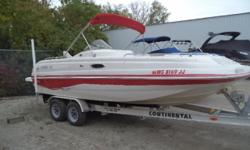 This boat is ready for a new family!! Don't pass this one up!! Trades Considered. General Options AXLES (2) BATTERY (2) BILGE BLOWER BILGE PUMP BIMINI TOP BOAT SOLD AS IS BRAKES (1) BUNK CD PLAYER COCKPIT COVER - RED CONTROLS - COCKPIT DEPTH FINDER