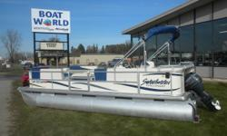 2005 Sweetwater SW220ES Pontoon & 40HP Yamaha 4-Stroke Outboard. Motor Runs Great! This Cruise Pontoon Features, Front Bench Seating With Lots Of Storage, Wrap Around Bench Seating, Comfortable Captain's Chair, Rear Sun Deck, Bimini Top, Helm Storage, Rod