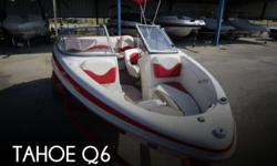 Actual Location: Lewsiville, TX - Stock #086779 - If you are in the market for a bowrider boat, look no further than this 2005 Tahoe Q6, priced right at $18,250.This boat is located in Lewsiville, Texas and is in great condition. She is also equipped with