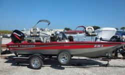 2005 Tracker Pro Team 175SE is 17 feet in length. Features include Motor Guide 46 pound Thrust Foot Controlled Trolling Motor, Garmin DF/FF, 3 Row Seating Across, Bow and Stern Fishing Chairs, Life Jackets and Full Cover. Powered by a 2005 Mercury 50ELPTO