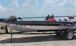 2005 Tracker Pro Team 185, Mercury 90hp ELPT,a piece of Americana, port console added, MGuide80lb-24V, Lowrance Hook 5 helm, Eagle 3 bow,single axle trailer $6,995 Nominal Length: 18' Length Overall: 18' Beam: 6 ft. 11 in.