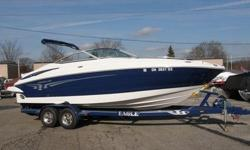 2006 Crownline 260 LS Our newest bowrider, built on our exclusive F.A.S.T. Tab hull, is loaded with dazzling quality features. Helmsman and passenger seats are flip-up buckets on Tri-Tech suspensions. For ease of handling there's rack and pinion steering