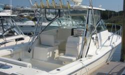 Price Reduced. Very Motivated seller. Absolutely new in every respect except the Price. Loaded with all factory options. Top line electronics, Full galley and stand up head with shower. Large fishing cockpit. Very fuel eficient getting