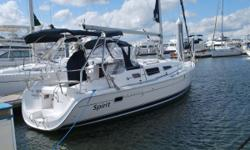 2006 Hunter 33 'Spirit' is ready to sail away. Having been professionally maintained since her purchase in 2006, this Hunter is truly in immaculate condition. Despite being lightly used by her only owner, she has received the same level of attenion as
