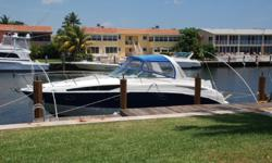 Description This low hour fully loaded 325 Cruiser has been placed on the market to sell. She is loaded with factory options that include the top option Mercruiser 350 MAG MPI engines a Kohler 5.0kW Genrator reverse cycle air conditioning and a navy blue
