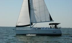 """The Hunter 38 model was introduced in 2005 and immediately won Cruising World's Boat of the Year for Production Cruiser under 40 feet. """"The Hunter 38 surprised the judging panel on several counts: first, by meeting her design objectives so well, and"""