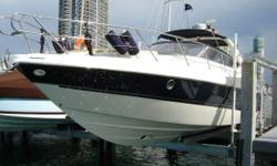 This is an upscale italian version of a sea ray style boat. It has a huge aft deck sun pad for lounging, that lifts up for a tender or storage. The boat has a master stateroom with two beds, separate DVD/TV. There is a ray marine gps, plotter, radar. Lift